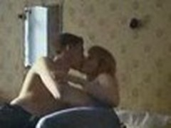 Dilettante webcam stealthily films sexy couple having a steamy fuck session with vehement kisses and unfathomable cock riding.
