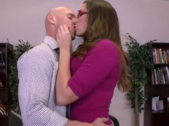 It's Paige Turnah's final day on the job and this babe wants to leave in style. So this babe and her paramour lad, Johnny Sins, give a decision to fuck on the boss' desk, drenching his work space with the rich, fragrant smell of her gushing geyser of a snatch! That is, if Milton doesn't make good on his threat to burn this fucking place to the ground.