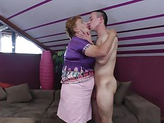 Elisia is a chubby aged whore that needs some love from her boy. That babe approach him and the start to kiss passionately and receive naked. soon Elisia finds herself beneath her guy and he squeezes her big soft milk shakes during the time that giving a kiss them. Will Elisia receive a few loads of sperm in her cookie or on her boobs?