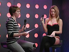 2 sexy girls speak live about sex in a jewish manner. They are broke and trying to buy something, but don`t have enough money. These jokes about sex are truly turning 'em on. Besides looking for Mr. Right, the golden-haired craves to go down on her girlfriend for some money. This babe takes her brassiere off, it`s so hot.