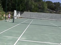 She is out on the tennis court on a bright, warm and sunny day. it makes her very sexy and willing to shed her raiment to get rid of her heat. this babe receives into the shower to reveal a pair of zeppelins that can drive a man crazy and an arse that is a enjoyment to look at. coach is going to enjoy her body.