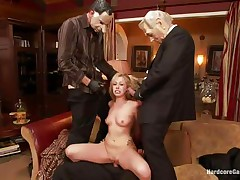 Sexy golden-haired slut Zoey receives drilled hard by five lewd chaps with face masks. This playgirl is recorded, during the time that her taut holes are getting filled with large hard dicks by turns. This playgirl groans with pleasure and craves greater amount and more. This playgirl opens her face hole to engulf it deep. Who will cum first, that babe or they?