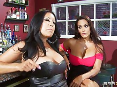Kiara Mia and Nina Mercedez are 2 sexy MILFs these love to play lesbian often. In a bar, these 2 were alone and their homosexuality jumps out of their cages for a dominating hardcore lesbian love. One of 'em got rough with one more one and made her to strip, suck boobs & nipples, get arse slapped and pussy licked.