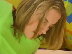 Three sexy Russian teens have joy sharing act with one hard old dick