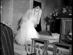 Dark and white hardcore with a sexy bride