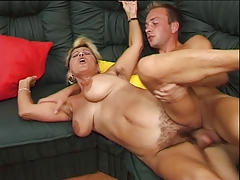 German hairy mature is concupiscent she copulates and squirt
