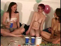 Real all girl party gets dirty
