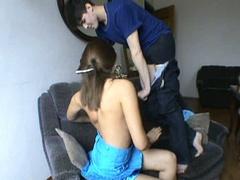 Non-professional couple makes their first porn clip