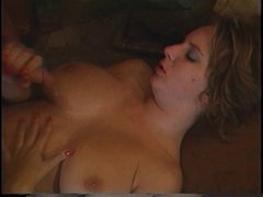 Retro Mindy Rae rides guys face with her constricted twat then fucks