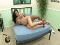 Angel is slutty as hell and making her stud feel good