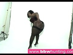 Hot ebony BBW teasing a big ass paramour