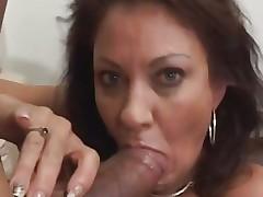 Vanessa Videl stuffs this hard pecker down her throat