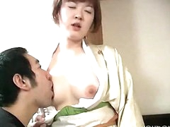 Pale Asian Girl Gets Cummed On
