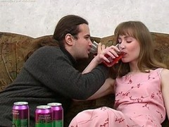 Ivan and Nelly are enjoying wine coolers that are made specifically to receive a whore drunk and the chick drinks down as much as that man gives her. The greater amount this chab pours the greater amount that chick drinks and when this chab peels a banana for her to eat this chick can't aid but oblige his naughty desires. When a chick chews a phallic fruit in such a lusty manner it's bound to receive a man all lustful and aroused. A little greater amount liquor and this guy's ready to make his move with this hot slut. That Babe gives him head and then this man pounds her fur pie missionary and doggy style. It's great drunk hardcore sex for sure