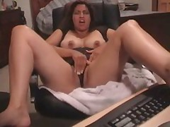 Latin babe gets her bawdy cleft fucked and stroked by her beloved toy. This babe started with tender touches and finishes with pounding.