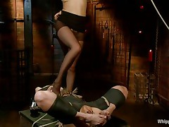 I bet u love seeing kinky harlots having fun. If u do then why not watch those movie? With a golden-haired fastened cute milf that's engulfing the muff of her mistress and wetting her lips as that babe does that u can surely be satisfied. Her billibongs were punished with clothespins and her cunt, well, let's say there's a lot more to watch