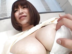 She's gorgeous busty and likes giving her large boobs for a good suck. Marie loves the attention this babe receives and this babe merits a lot more then some nipp sucking. See 'em and as things get hotter. Maybe this Japanese bitch will end up with semen all over her breasts