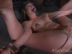 We offer you Cici, a girl that needs torment and no thing makes bad girls compliant then a hard ass fisting. Cici was tied with her legs spread wide and the executor oiled her pink hairless backdoor previous to inserting his hand inside it. This guy rips her ass hole and that babe moans with both enjoyment and pain, wana watch some more?