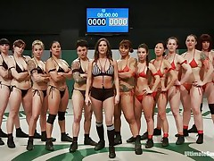 A lot of sluts and each of one wants to win! Well, it will be a very lengthy and hard match but it worth seeing it. These strumpets are sexy and merciless, soon the game begins and things acquire intense. Should we begin betting one who will win and what the losers will have to acquire through?