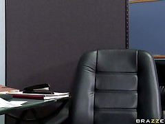 See this sexy sweetheart entering her bosses office asking for some money. Look at her big bra buddies and her soaked lips engulfing that big cock. Suddenly his wife comes in and this chab freaks out but the horny floozy still doesn't desire to leave. Is she going to acquire some extra money?
