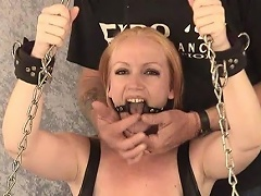 Take a look at this golden-haired bitch Tori as that babe is shackled to the...
