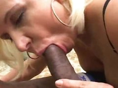 Getting blow job with a lustful golden-haired chick