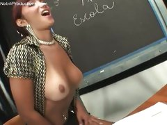 Lady-man Prisilla teaches male to suck dong