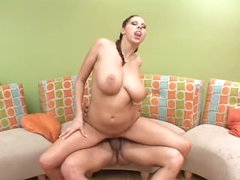 Large bazookas Gianna Michaels rides her man