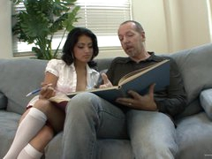 Horny Schoolgirl Andrea Kelly Bonks Her Stepdad's Large Pecker