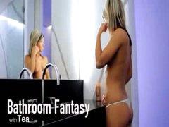 Bath fantasy of unbelievable model