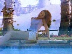 Cute girl sucks cock in the pool