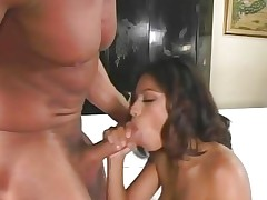 Sexy Megan Martinez rams a hard dick down her throat