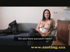 Casting Nice natural breasts acquire sprayed
