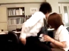 Office Lady Giving Blow job Fingered During the time that Bending To The Desk In The Office