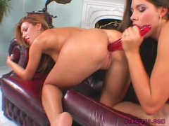Bad Hotty Zafira Shares A Long Rubber Toy With Her Friend