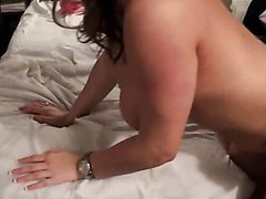 Enjoyable slut with rainbow socks acquires fuck by mature white dude.