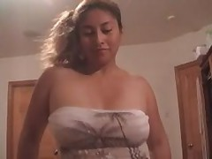 Beautiful Latin cocksucker is longing for loads of man's cum, getting his hard pecker sucked and licked off.