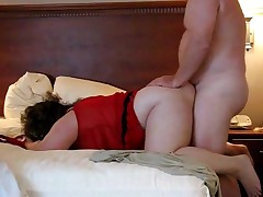 A fatty duet gets their big bodies to come together with the hooking of his cock inside her pussy. She's bent over and willing to handle the thrusts. Their chubby jiggles all the way to a pair of precious orgasms.