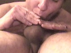 Whilst she laid on top of me and sucked my cock, I surprised her with a big load in her mouth.