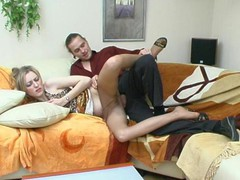 Extremely hawt chick in expensive pantyhose getting her brains screwed out