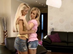 Spend time with charming lesbian honeys having joy on livecam