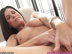 No thing compares with a sexy mommy that has long darksome hair, cute tits, sexy long legs and a wide cum asking mouth. This horny mom gets down on her knees and quickly begins to suck that large hard dick, deepthroating it like an experienced lady. Will she receive some sex sperm on her long darksome hair or in her sexy mouth?