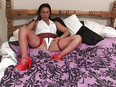 Anna likes to dress like a school gal but she's not one anymore, the Fifty y. o. cunt has a lot greater amount experience! Anna still enjoys a hard pussy rubbing just like that babe used to in the old times so here u have it, playing alone with her body and rubbing these tits and pussy. Let's see if that babe will remove her pants