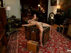 A devilish brunette wearing no thing but her dark hot underware is dominating and punishing that smokin' hot brunette. that babe putted clamps on her teats and electrodes and inserted a sex-toy in her muff in advance of making her stand on her feet for a better humiliation. She is going to enjoy each moment of punishing that hot body