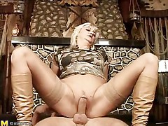 They say older honeys are marvelous lovers, and this is one mature woman! That babe loves getting boned, riding her stud's meat just as good as any young slut could do if not better. That babe acquires her pussy pounded previous to laying on her back and her man getting between her, drilling her well-aged cunt.
