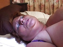 Brigit is one of these huge granny women that could swallow a sextoy like a candy bar. This babe is masturbating and inserts that sex toy in her vagina all the way in making sure that babe has it inside. Her fat cunt receives it with no problems and now that babe can have a fun herself. This babe is huge but her sex drive is even bigger then her.