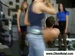 Cfnm sluts dominate femdom fellow
