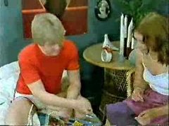 Brother&amp,#039,s ally and girlfriend playing to the doctor when mamma  comes-Retro
