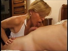 French Mature Give Some Experience To Young Guy