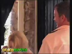 Blonde MILF Beverly Lynne sucks mature dudes cock and gets screwed